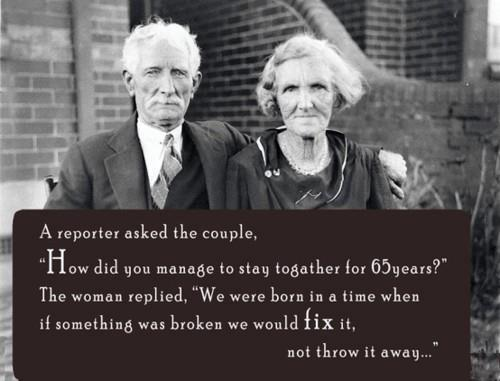 Old Couple Who Had Stayed Together for 65 Years