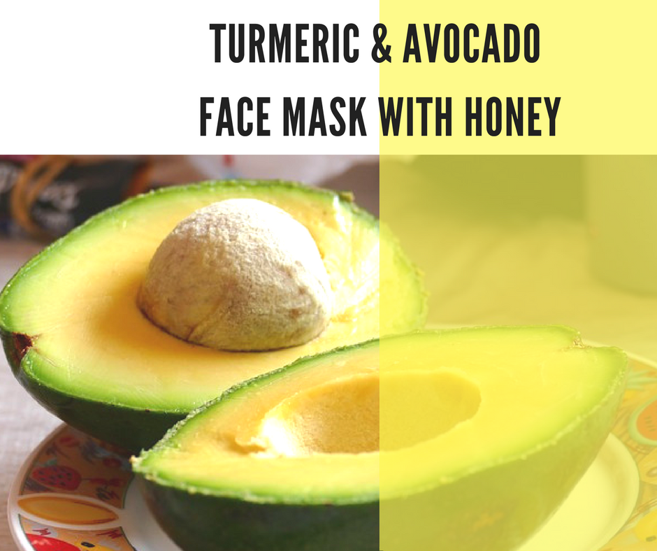Turmeric and Avocado Face Mask with Honey