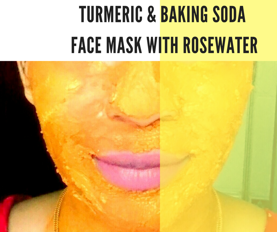 Turmeric and Baking Soda Face Mask with Rosewater