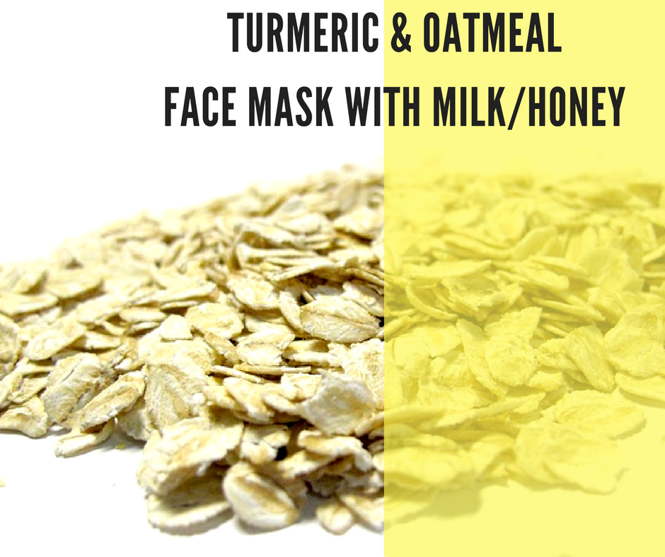 Turmeric and Oatmeal Face Mask with Milk / Honey