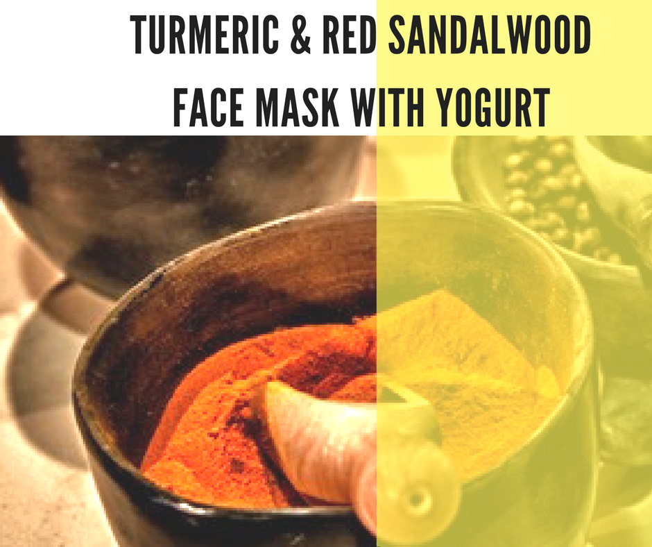 Turmeric and Red Sandalwood Face Mask with Yogurt
