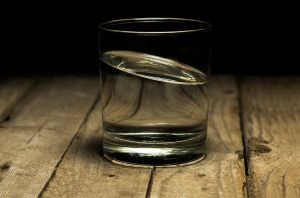 Empty Glass of Water waiting for Salt